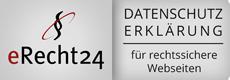 eRecht24 Siegel - Datenschutzerklärung