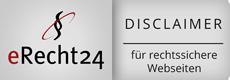 eRecht24 Siegel - Haftungsausschluß